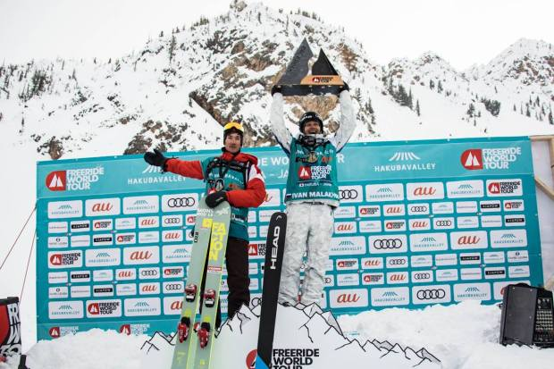 podium Yann Rausis Hakuba in Kicking Horse