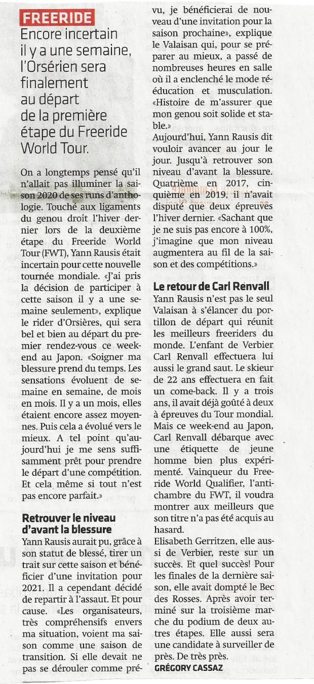 Yann Rausis départ Japon